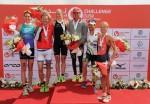 Il podio del 1° Challenge Dubai (Foto: Charlie Crowhurst/Getty Images for Challenge Triathlon)