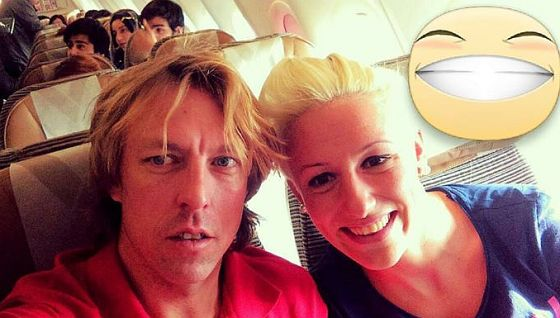 Andrea Gabba e Gaia Peron in viaggio per Abu Dhabi