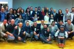 Foto di gruppo per la presentazione della Civitanova Triathlon 2015