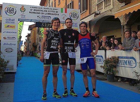 Il 4° Duathlon Romano di Lombardia a Giorgia Priarone e Massimo De Ponti