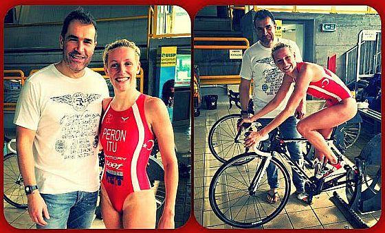 Gaia Peron con il coach Costantino Bertuccelli