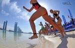 La partenza dell'ITU World Triathlon Abu Dhabi 2015