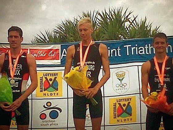 Jonas Schomburg ha vinto il 1° marzo 2015 in Sudafrica il suo primo triathlon ITU