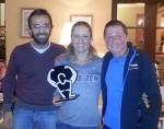 A Poggio all'Agnello, Martina Dogana premiata da Edith Niederfriniger alla presenza di Dario Nardone, papà del Gala del Triathlon