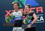 I vincitori dell'XTERRA South Africa 2015, Flora Duffy e Stuart Marais