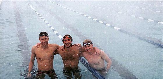 Le sessioni di nuoto invernale a Boulder di Davide Giardini (al centro)!