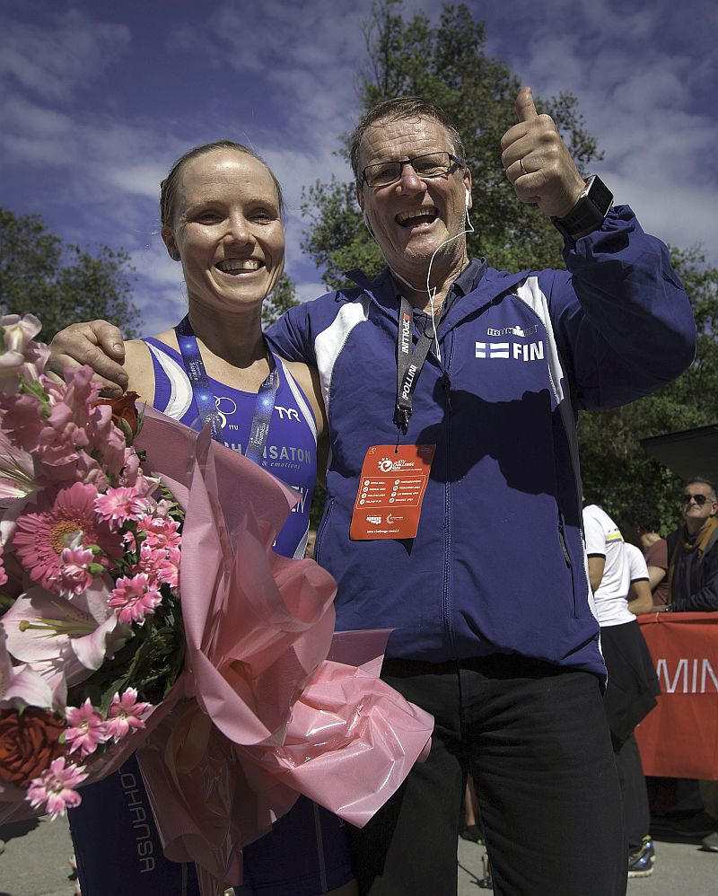 La finlandese Kaisa Lehtonen è la campionessa europea 2015 di triathlon medio al Challenge Rimini (Foto: Gonzalo Arroyo Moreno/Getty Images)