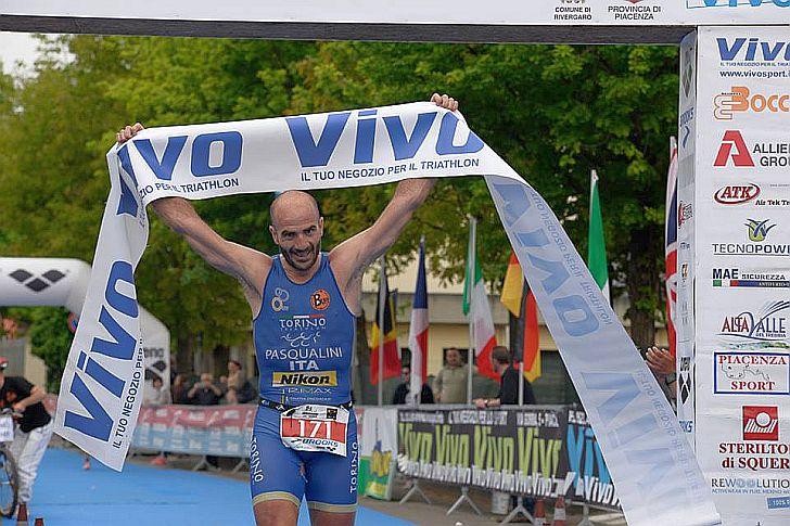 Bruno Pasqualini è stato il più veloce ai Campionati Italiani Duathlon Classico corsi il 3 maggio a Rivergaro