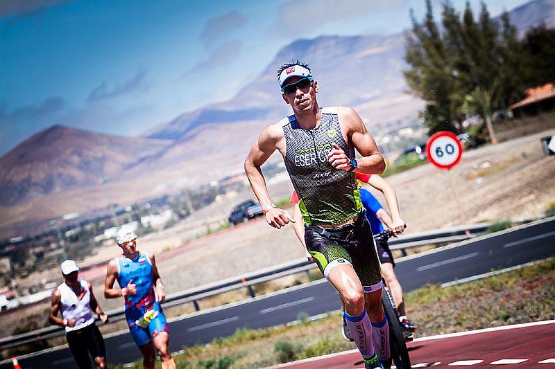 Jonathan Ciavattella impegnato nella mezza maratona del Challenge Fuerteventura 2015