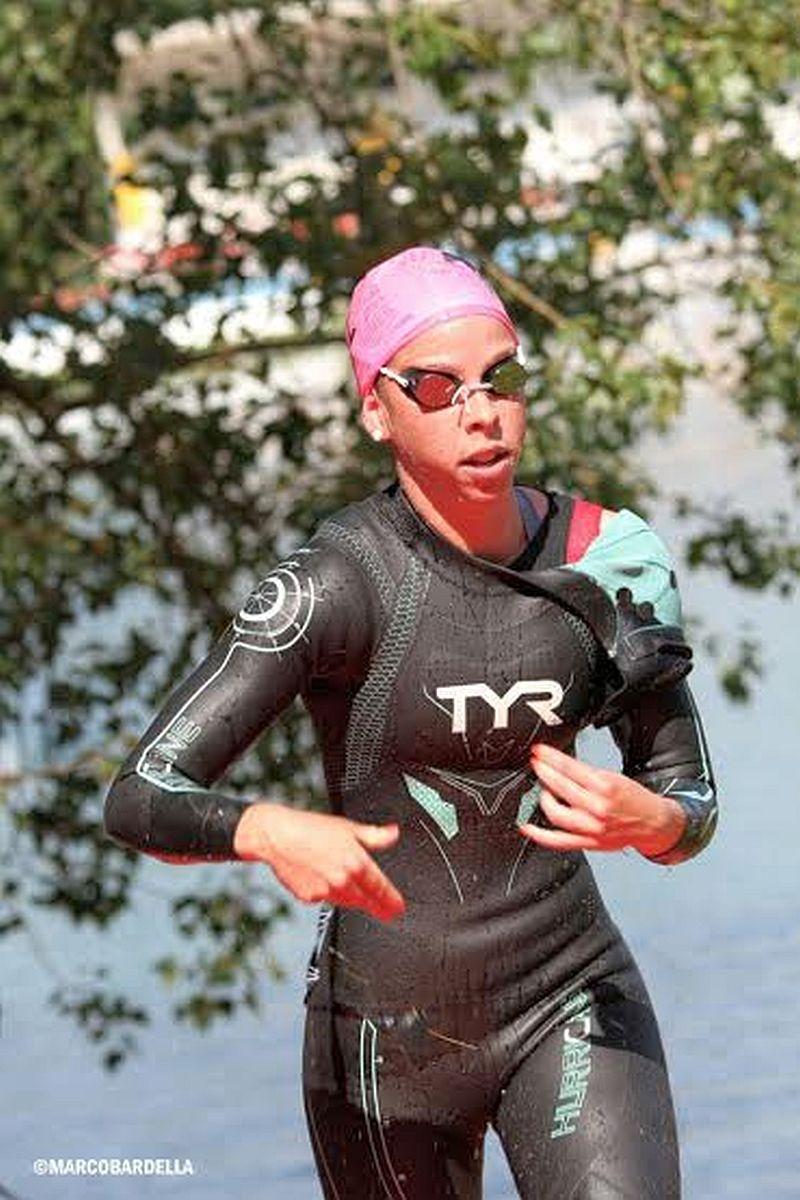 Ilaria Zane è la vincitrice del 2° Triathlon Milano Idroscalo (Foto: Marco Bardella)