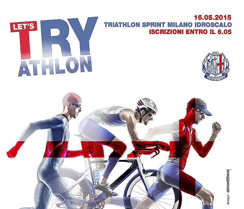 La locandina del Triathlon Milano Idroscalo del 16 maggio 2015