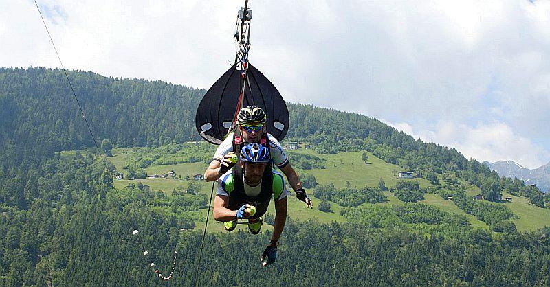 Fly2Race Triathlon Albaredo: corsa, mtb e… volo!