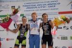 Il podio femminile Assoluto dei Campionati Italiani di triathlon olimpico 2015 disputati a Farra d'Alpago sabato 6 giugno 2015 e vinti da Anna Maria Mazzetti
