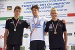 Il podio maschile Under 23 dei Campionati Italiani di triathlon olimpico 2015 disputati a Farra d'Alpago sabato 6 giugno 2015 e vinti da Dario Chitti
