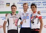 Il podio maschile Assoluto dei Campionati Italiani di triathlon olimpico 2015 disputati a Farra d'Alpago sabato 6 giugno 2015 e vinti da Davide Uccellari