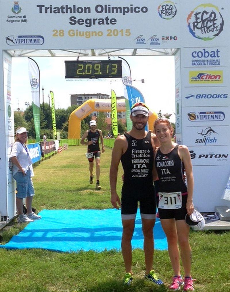 Triathlon Milano Segrate Eco Race del 28 giugno 2015, la trionfatrice Elisa Monacchini
