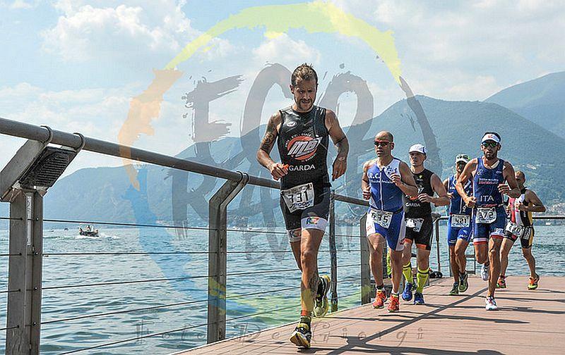 La frazione run del Triathlon Olimpico di Iseo