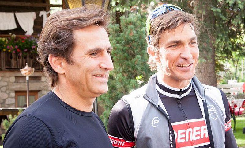 Alex Zanardi con Enervit: Maratona dles Dolomites e poi Kona!