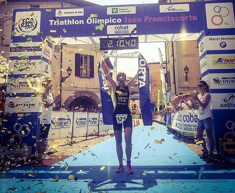 Massimo De Ponti e Margie Santimaria al Triathlon di Iseo