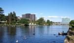 Il laghetto dell'EUR a Roma pronto ad ospitare il grande triathlon