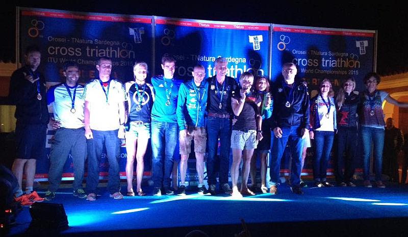 Tutti i vincitori di 1 oro Age Group al TNatura Sardegna 2015, ITU Cross Triathlon World Championship 2015