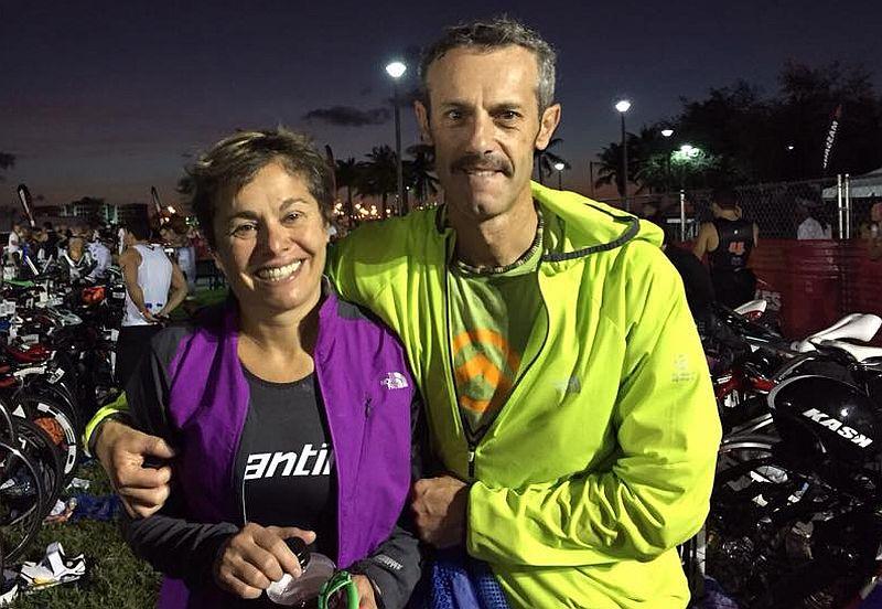 Emilio e Michela all'Ironman 70.3 Miami