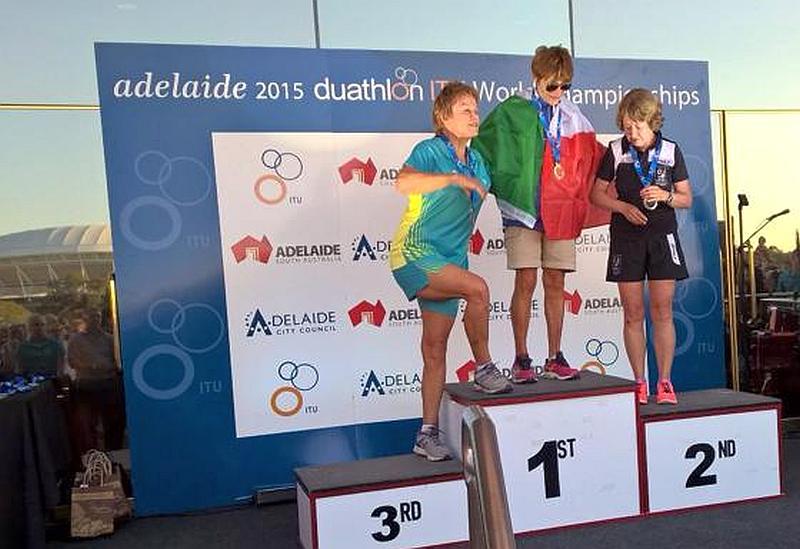 L'italiana del Triathlon Team Ravenna Lucia Soranzo si conferma campionessa del mondo di duathlon 2015 di categoria