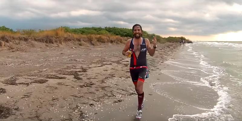 Una fase dell'edizione 2015 di Aquaticrunner con il Daddo
