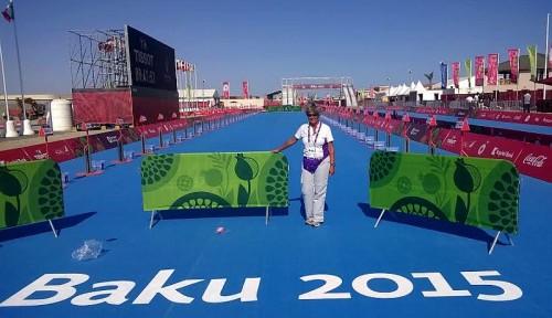 """Laura Patti """"Chief Transition"""" nel triathlon dei Giochi Europei di Baku 2015"""