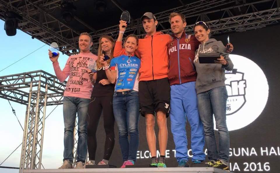 Martina Dogana e Matic Modic al Chia Laguna Half Triathlon