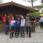 Il podio femminile dell'Irondelta di Primavera 2016 vinto da Alessia Orla