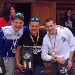 Il podio maschile dell'Irondelta di Primavera 2016 vinto da Andrea Pederzolli