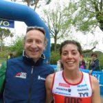 Alessia Orla, con Simone Diamantini suo coach, prima all'Irondelta di Primavera 2016