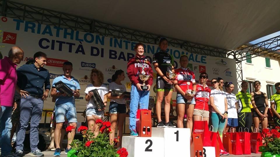 Classifica con parziali del 33° Triathlon di Bardolino