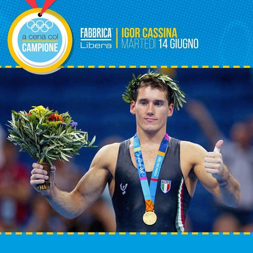 A cena con il campione: Igor Cassina!