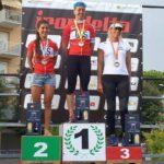 Il podio dell'Irondelta Olimpido 2016 di Lido delle Nazioni vinto da Alessia Orla