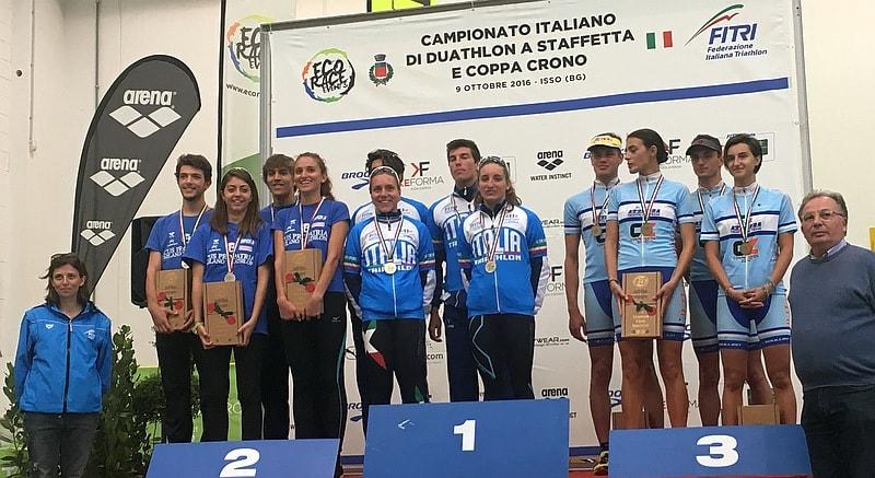 Il TD Rimini a Isso è tricolore di duathlon a squadre