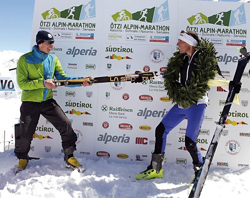 Oswald e Daniel alla 14^ Ötzi Alpin Marathon