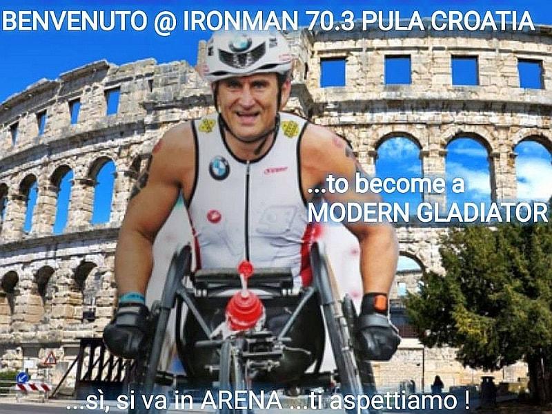 Alex Zanardi all'Ironman 70.3 Pula!