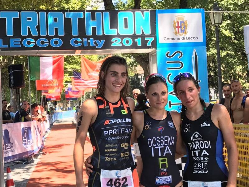 Triathlon Sprint Città di Lecco: Sara Dossena è la più veloce
