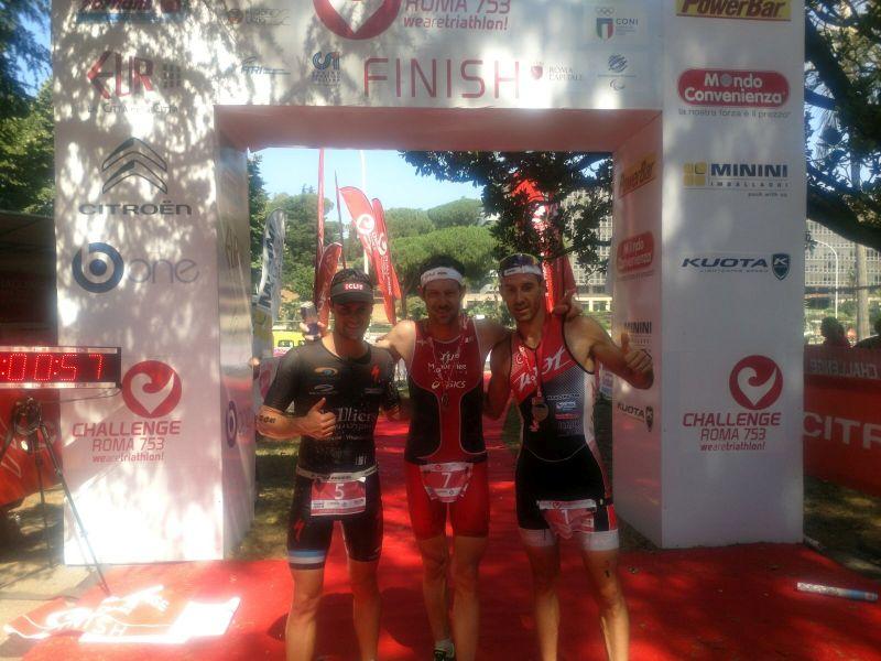 Challenge Roma 753: il podio maschile
