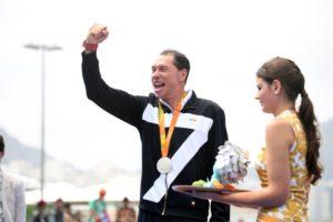 Michele Ferrarin, argento a Rio 2016, sarà uno dei protagonisti del Paratriathlon Mergozzo 2017 (Foto ©Delly Carr)