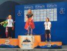 Il podio femminile Junior dell'ITU Penticton Cross Triathlon World Championship 2017: Holly Henry, Bridget Theunissen e Marta Menditto (Foto ©FITri)