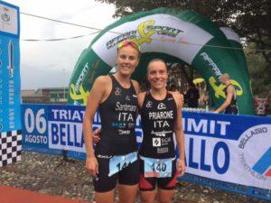 Le protagoniste del Triathlon Hard Sprint Bellagio-Ghisallo 2017: Margie Santimaria (2^) e Giorgia Priarone (1^)