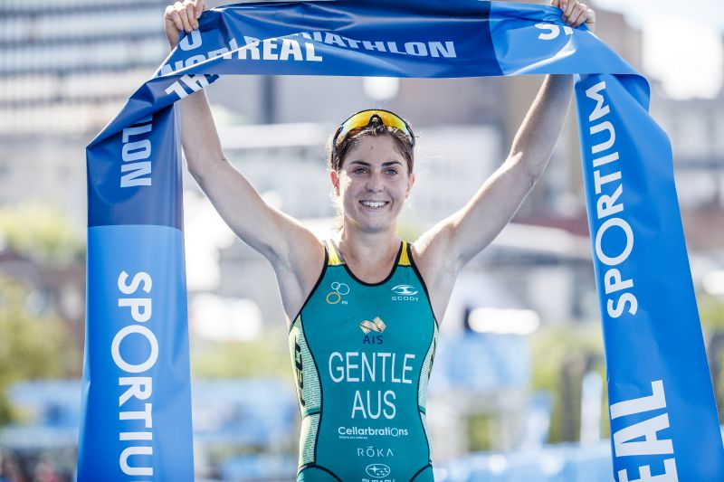 Ashleigh Gentle, seconda in classifica generale WTS, nel 2017 ha conquistato la sua prima vittoria in una tappa del circuito: a Montreal, dove ha battuto Flora Duffy (Foto ©ITU Media / Wagner Araujo)