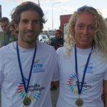 All'Irondelta 2017, al termine del triathlon olimpico, i nuovi Campioni dell'Emiliia Romagna 2017 sono Emanuela Montanari e Mattia Camporesi (Foto: Antonio Rotondo)