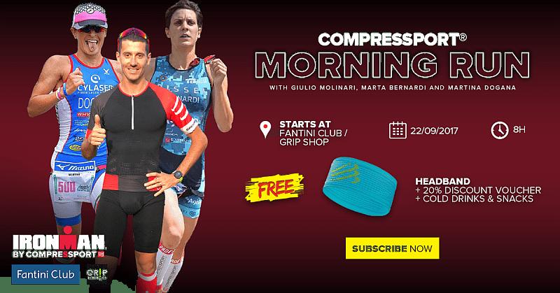 Compressport Morning Run Martina Dogana Marta Bernardi Giulio Molinari