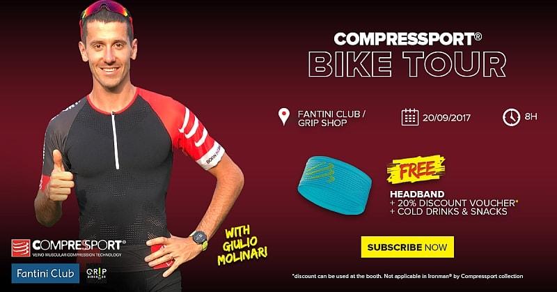 Compressport Ride Ironman Italy con Giulio Molinari