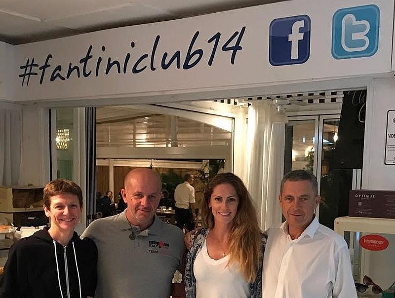 Jenny Fletcher insieme a Claudio Fantini, Daniele Tosi (Grip Shop) e Cristina Sironi