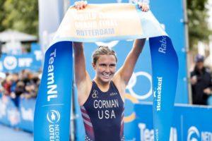Tamara Gorman si laurea nuova campionessa del mondo di triathlon il 16 settembre 2017 a Rotterdam (Foto ©ITU Media / Wagner Araujo)